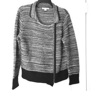 Coldwater Creek Moto style Sweater Zip Up 10 12 M